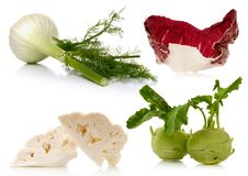 Vegetables on white background Stock Images