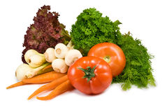 Vegetables on white background Stock Image