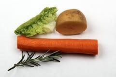 Carrot, potato and rosemary Royalty Free Stock Image