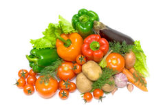 Vegetables on a white background - view from above Royalty Free Stock Photography