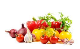 Vegetables on white Royalty Free Stock Image