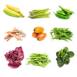 Vegetables on white Stock Photography