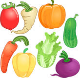 Vegetables whole cartoon Royalty Free Stock Photography