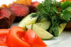 Vegetables With Meat Stock Photos
