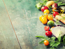 Vegetables on wood. Stock Images