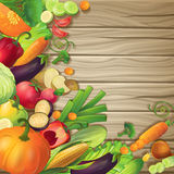 Vegetables On Wood Concept Royalty Free Stock Image