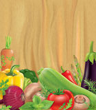 Vegetables on wooden board Royalty Free Stock Photo