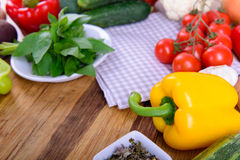 Vegetables on a wooden board Royalty Free Stock Photo