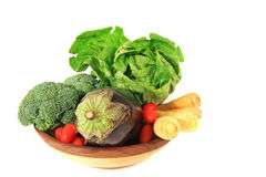 Vegetables in Wooden Bowl stock photography