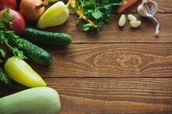 Vegetables. On a wooden table Royalty Free Stock Photo