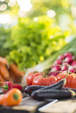 Vegetables on a wooden table Royalty Free Stock Photo