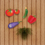 Vegetables on the wooden table Royalty Free Stock Photos