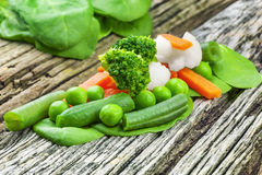 Vegetables on wooden table Stock Photography
