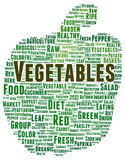 Vegetables word cloud shape Royalty Free Stock Photography