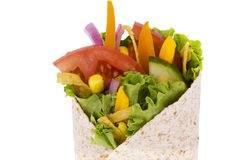 Vegetables wrap Royalty Free Stock Image