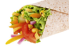 Vegetables wrap Stock Photography