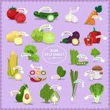 VegetablesIconElement Arkivfoto