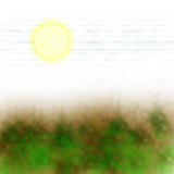 Vegetación de Sun Foto de archivo libre de regalías