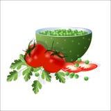 Vegetais úteis para o alimento saudável ilustração stock