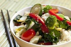 Vegetais Agitar-Fritados imagens de stock royalty free