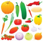 Vegetais ajustados Fotografia de Stock
