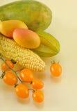 Vegetais amarelos Foto de Stock Royalty Free
