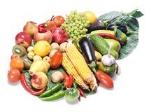 Vegetais & frutas isolados Fotografia de Stock Royalty Free