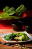 Vegetais asiáticos com molho da ostra Imagem de Stock