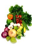 Vegetais Assorted no branco Fotografia de Stock Royalty Free