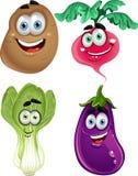 Vegetais bonitos dos desenhos animados engraçados Fotografia de Stock