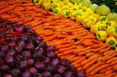 Vegetais coloridos frescos. Foto de Stock
