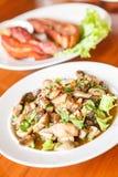 Vegetais com cogumelos Alimento tailandês - fritada #6 do Stir fotografia de stock royalty free