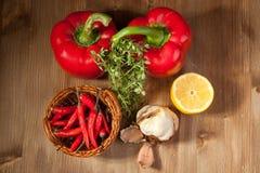 Vegetais com a erva Imagens de Stock