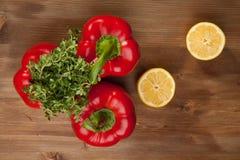 Vegetais com a erva Foto de Stock Royalty Free