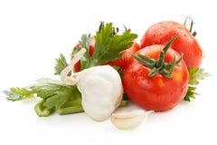 Vegetais com gotas Fotos de Stock