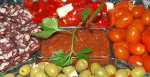 Vegetais com salsicha Fotografia de Stock Royalty Free
