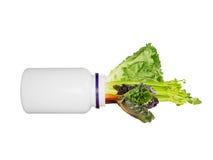 Vegetais como um conceito da medicina Fotos de Stock