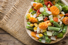 Vegetais congelados Foto de Stock