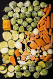 Vegetais congelados Foto de Stock Royalty Free