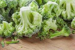 Vegetais congelados dos brócolis imagem de stock royalty free