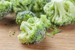 Vegetais congelados dos brócolis fotos de stock