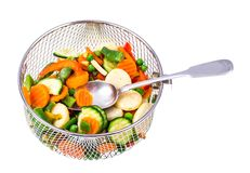 Vegetais congelados, preservando vitaminas Foto de Stock Royalty Free