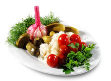Vegetais conservados Foto de Stock