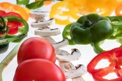 Vegetais cortados Foto de Stock Royalty Free