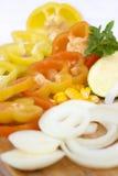 Vegetais cortados Imagens de Stock