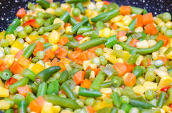 Vegetais cortados cozidos em uma bandeja Foto de Stock Royalty Free