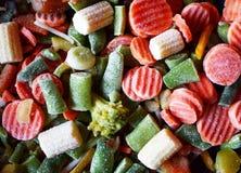 Vegetais cortados misturados congelados imagens de stock