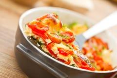 Vegetais cozidos com queijo Fotografia de Stock Royalty Free