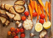 Vegetais cozidos forno Foto de Stock Royalty Free