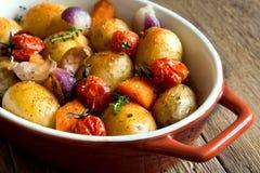 Vegetais cozidos forno Imagens de Stock Royalty Free